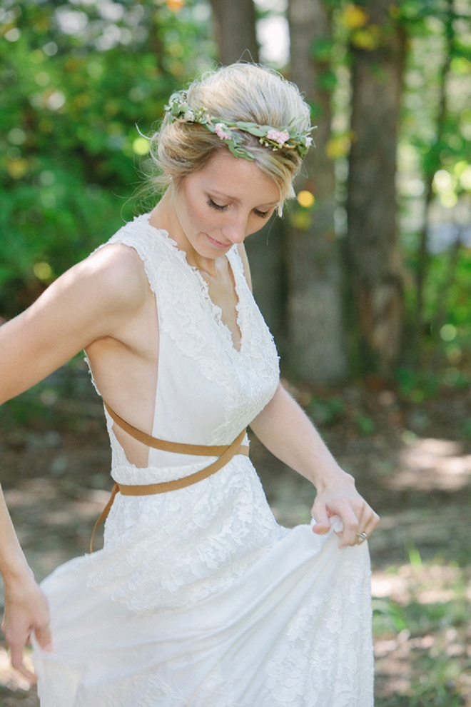 We're swooing over this beautiful boho bride!