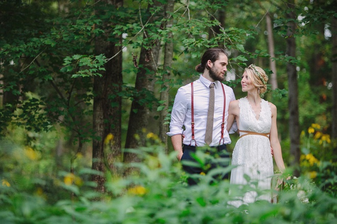 We're swooning over this boho backyard wedding!