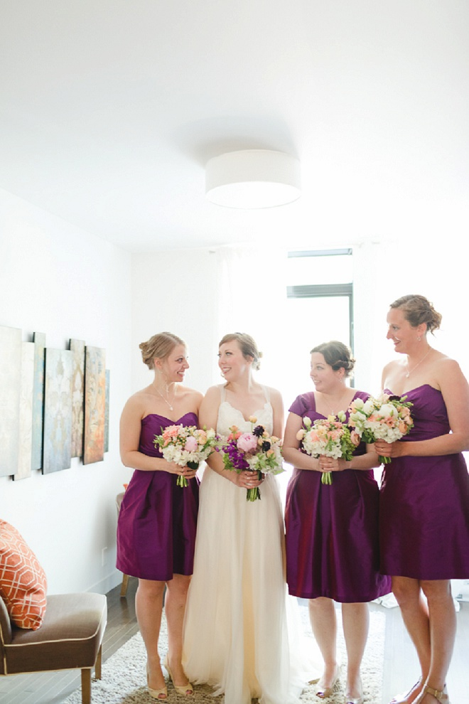 We love this sweet Bride and Bridesmaid photo before the wedding!