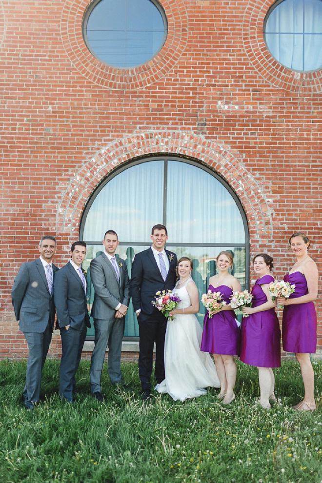 Loving this darling wedding party photo!
