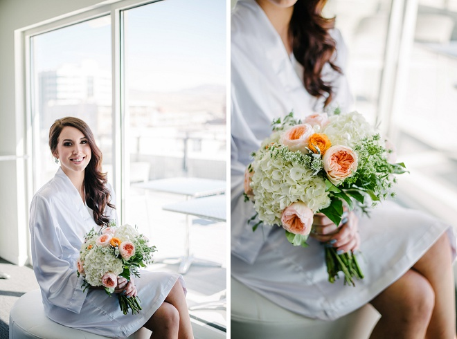 Swooning over this gorgeous bride getting ready for the big day!