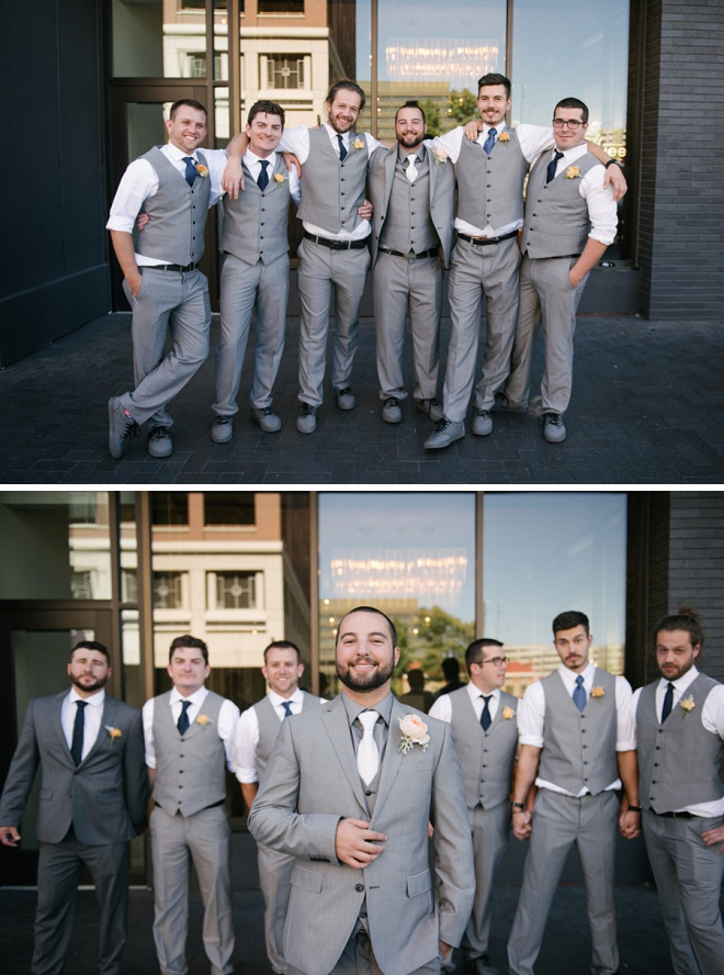 We love these fun shots of the Groom and his Groomsmen!