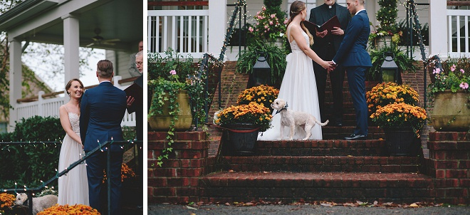 We LOVE this gorgeous front porch ceremony!