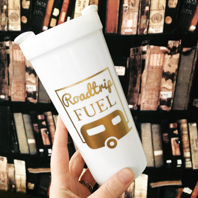 Road Trip Fuel Coffee Tumbler by Faire Acres
