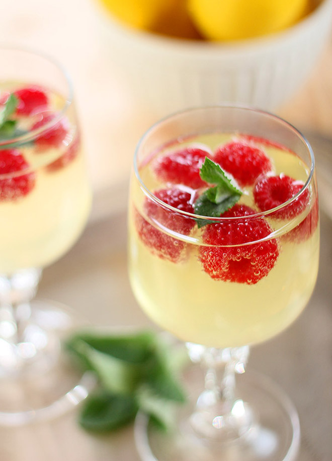 Awesome Limoncello Raspberry Cooler Recipe