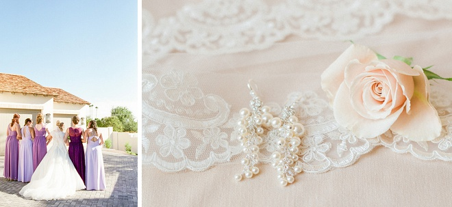 We're loving the gorgeous details at this DIY desert wedding!