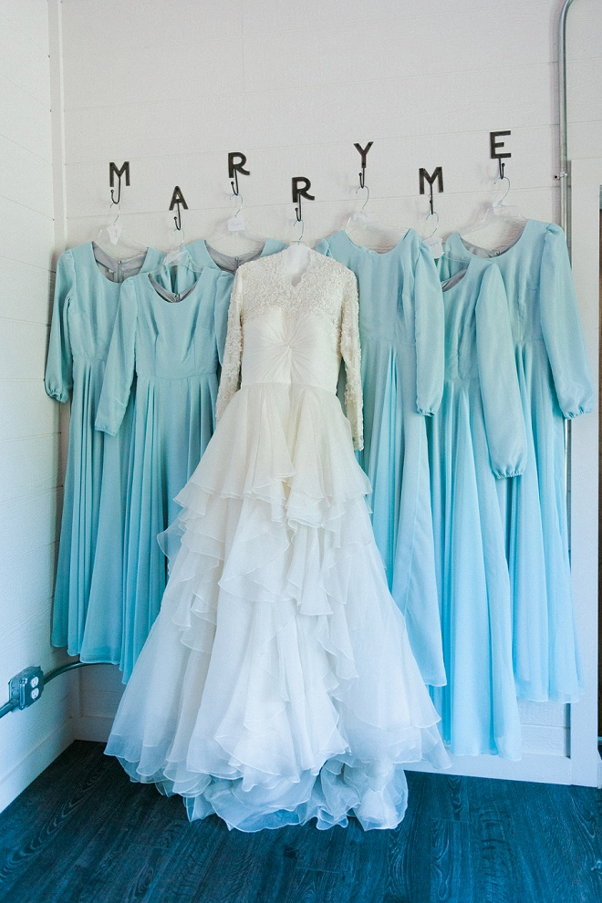 How darling is this dress photo?! We're loving the Marry Me dress hangers!