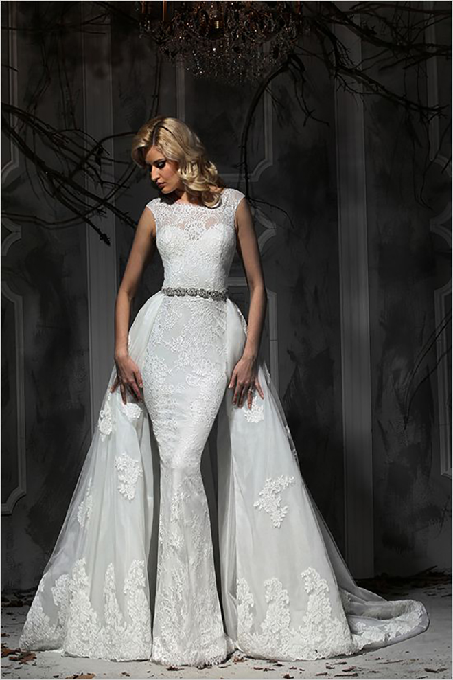 Impressions Bridal separate train, awesome idea for a convertible wedding dress