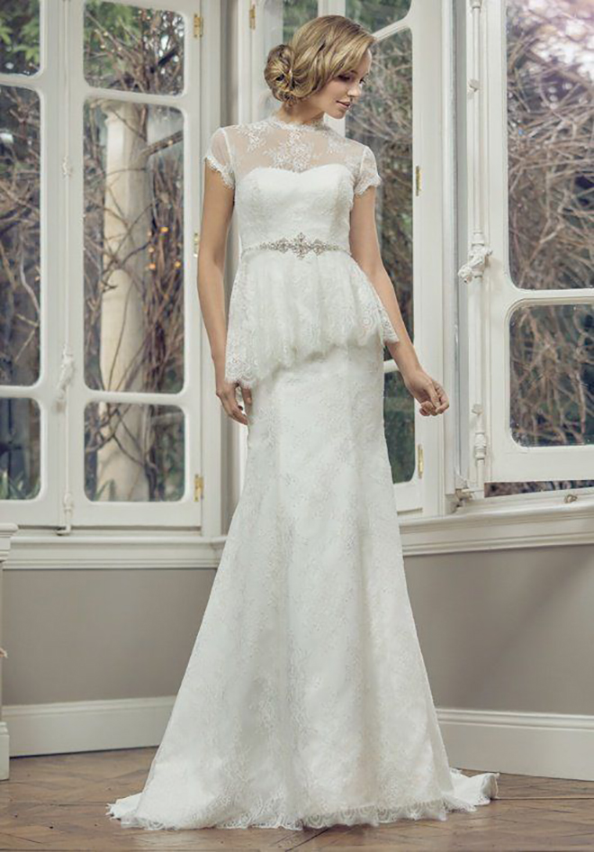 Mia Solano dress with peplum top, awesome idea for a convertible wedding dress