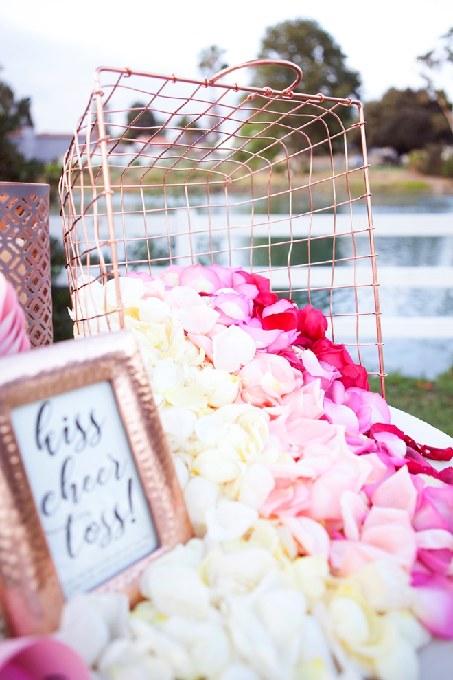 Absolutely adorable DIY petal toss bar for your wedding ceremony!