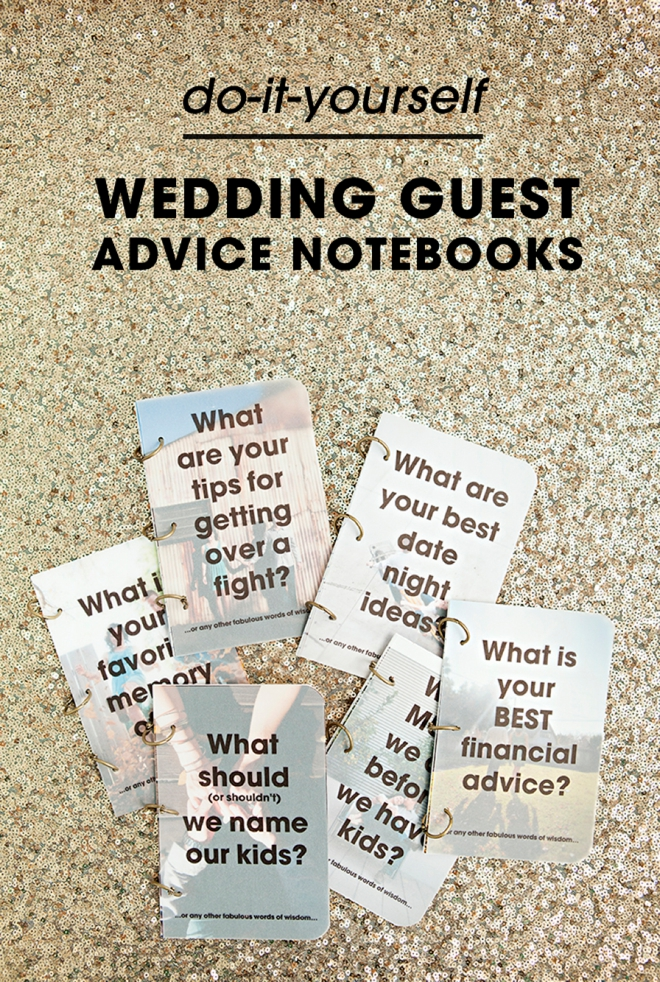 Make these darling wedding guest advice notebooks check out these darling diy wedding guest advice notebooks so cute solutioingenieria Images