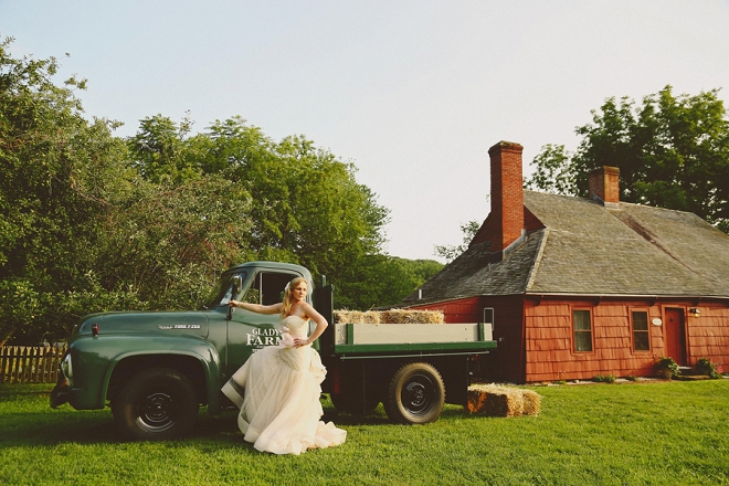 We're loving this rustic DIY wedding! The Bride's portraits with the vintage truck are gorgeous!