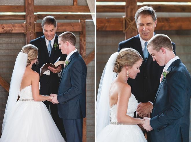 We're loving this sweet DIY wedding ceremony!
