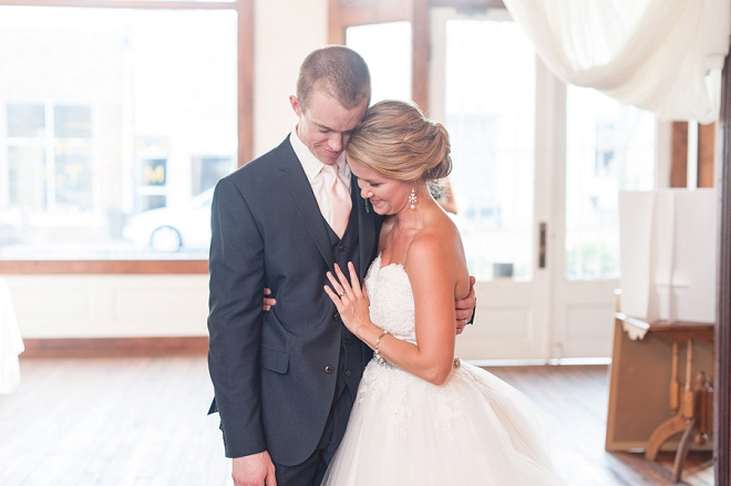 Swooning over this darling couple and their gorgeous DIY wedding!