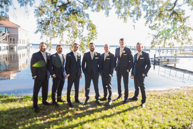 Great shot of the Groom and his Groomsmen before the ceremony!
