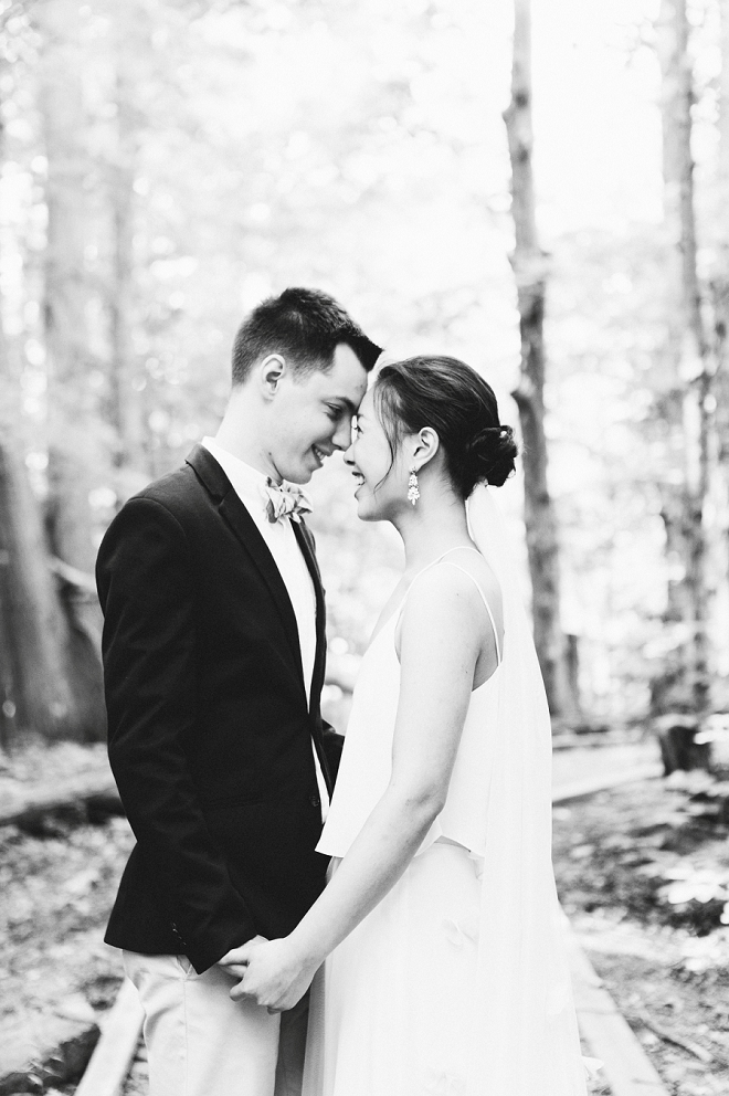 We're crushing hard on this gorgeous couple and their magical outdoor wedding!