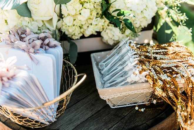 Loving the custom match sets for the Mr. and Mrs. sparkler exit!