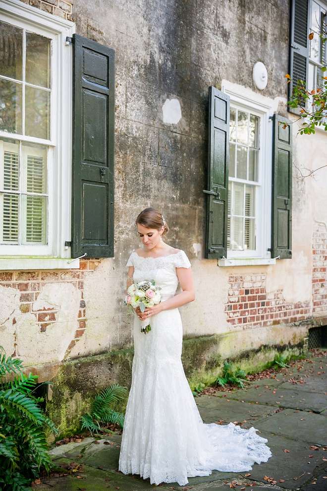 We love this gorgeous Bride's classic style at her Charleston wedding!
