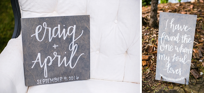 Loving these hand lettered signs at this gorgeous couple's engagement session!