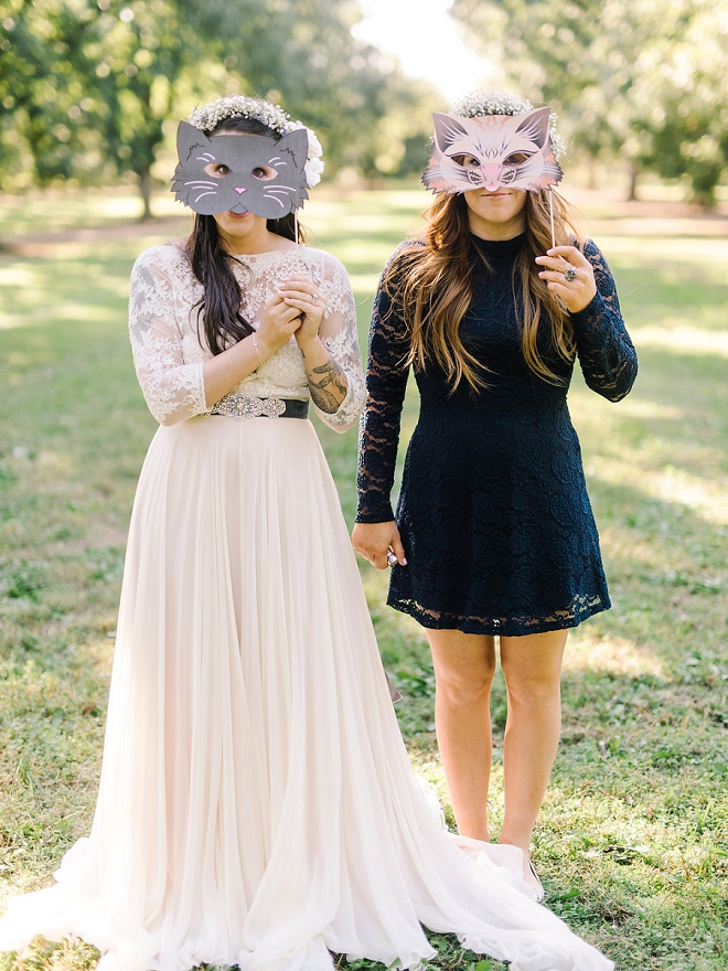 How fun are these cat face photobooth props?! LOVE!