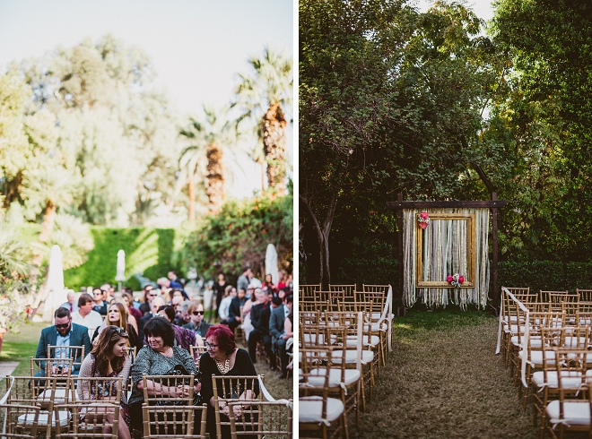 We're in LOVE with this gorgeous Palm Springs wedding ceremony!