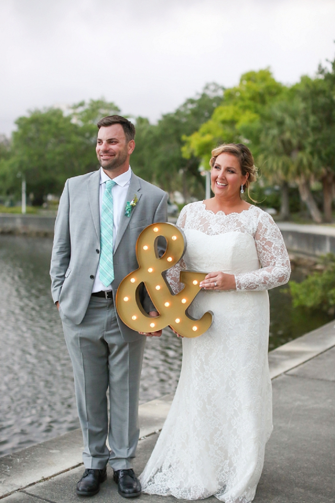 Such a darling photo of the Bride and Groom after their ceremony!