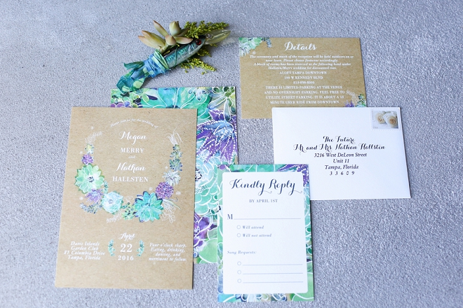 We're in love with this gorgeous and bright invitation suite!