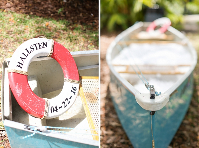 We love this couple's nautical wedding decor!
