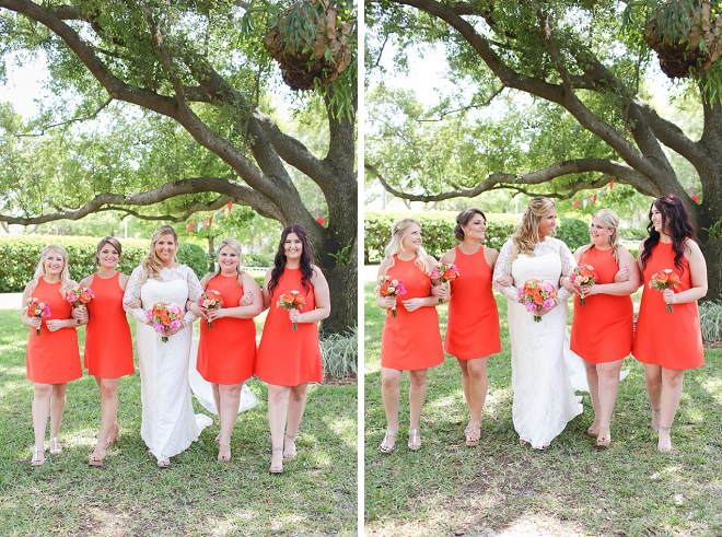 The stunning Bride and her Bridesmaids before the ceremony!