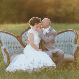 We love this super sweet couple and their rustic ceremony!