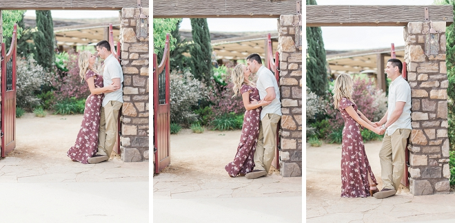 We are swooning over this uber romantic vineyard engagement session!