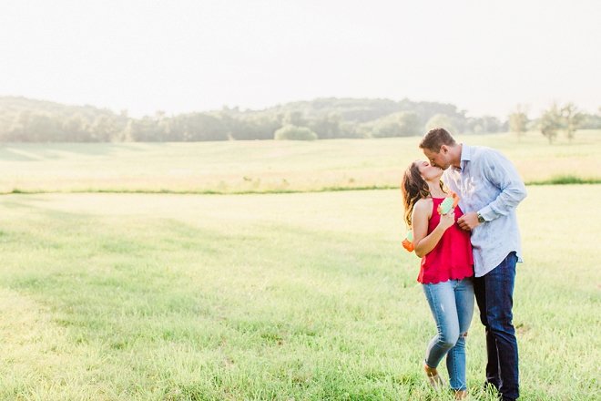 We love how playful and romantic this fun couple is!