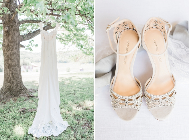 We love this Bride's gorgeous shoes and wedding dress!