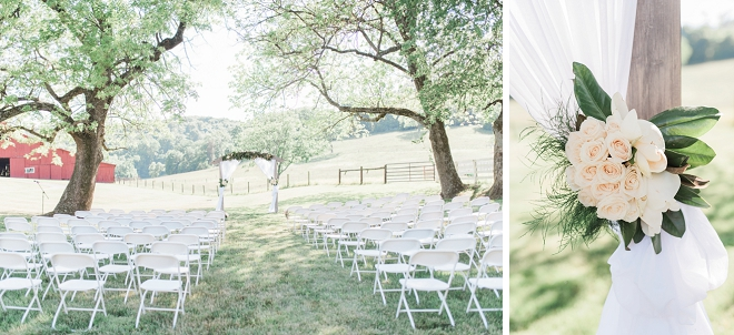 Sweet outdoor ceremony at this Nashville wedding!