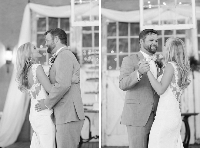 Sweet first dance as Mr. and Mrs!