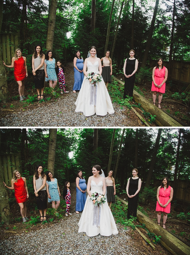 Sweet snap of the Bride and her non-Bridesmaids before the ceremony!