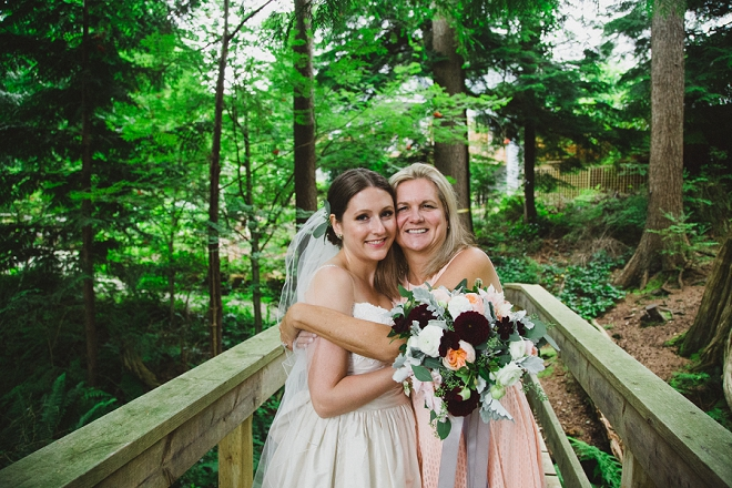 Sweet snap of the Bride and her Mom before the ceremony!