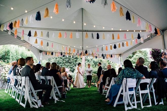 We're crushing on this stunning and intimate backyard wedding!