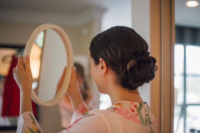 The gorgeous Bride getting ready for the first look!