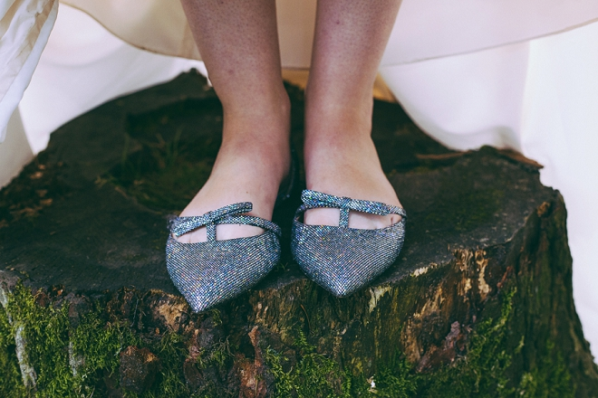 Loving our Bridal Bloggers adorable wedding shoes!