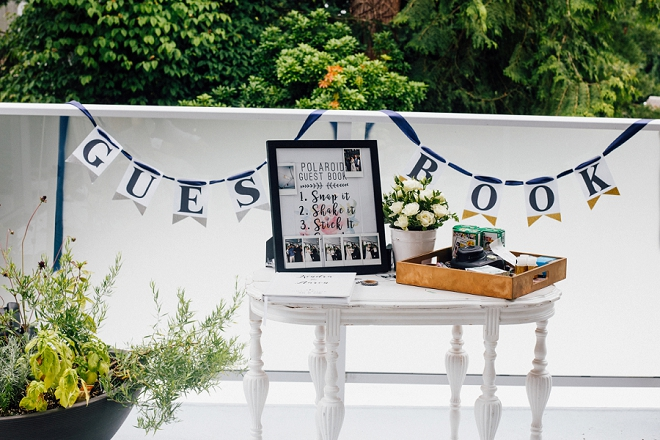 We are in LOVE with this darling Polaroid guest book!