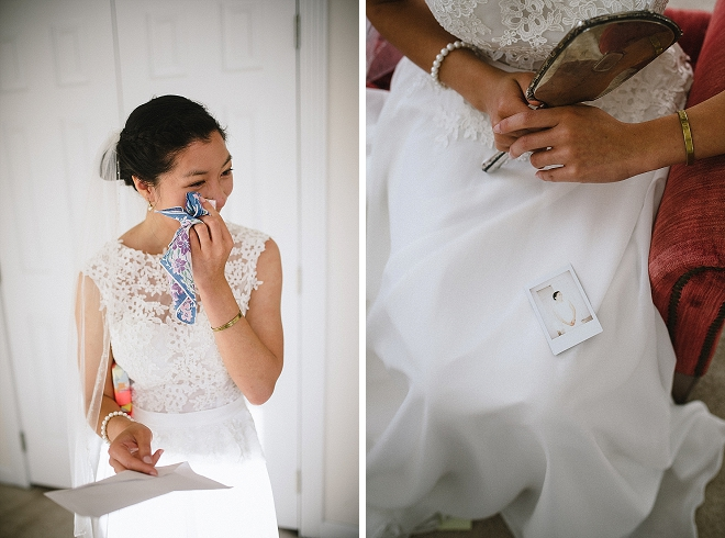 Super sweet note to the Bride from her Groom. So sweet!