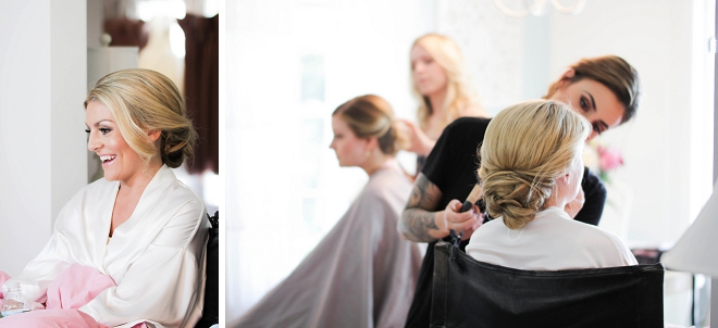 The gorgeous Bride getting ready for her big day!
