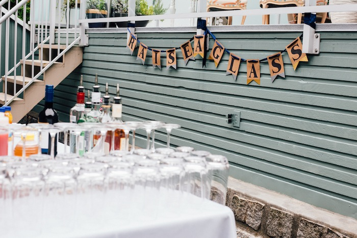 This raise a glass free printable banner is so festive and easy!