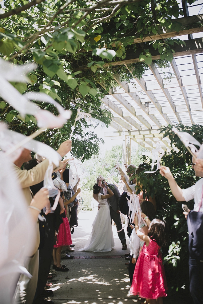 Crushing on this darling couple's first kiss and Mr. and Mrs!