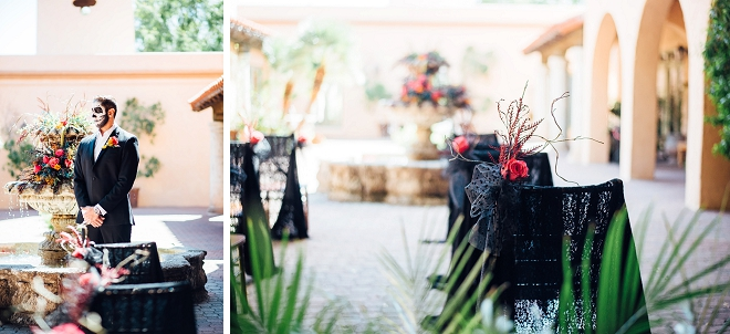 We love the ceremony details at this stunning styled Day of the Dead shoot!
