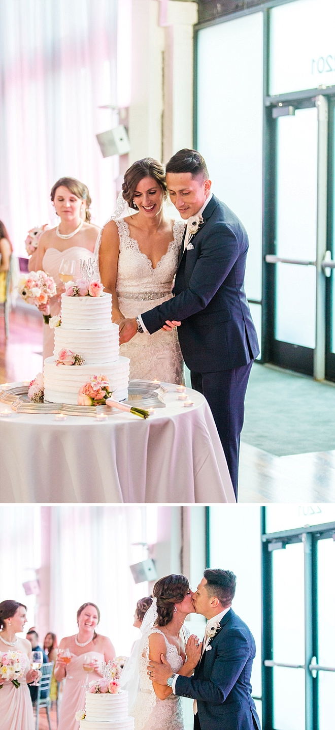 We love this super sweet cake cutting with this darling Mr. and Mrs!