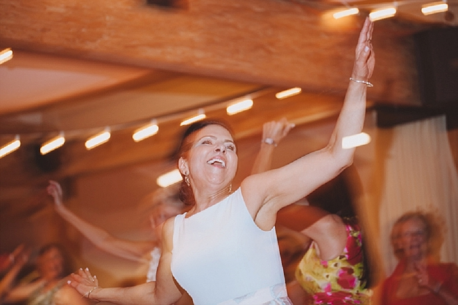 How fun is this Bride's Mother during their flash mob reception?! LOVE!