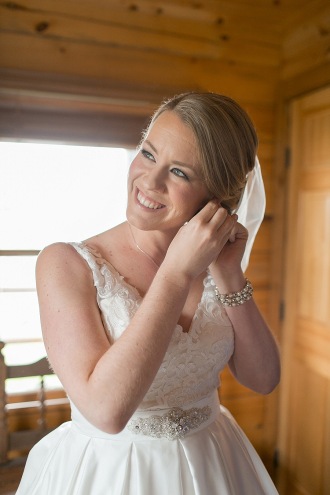 The stunning Bride getting ready for the big day!
