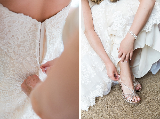 We love this close up shot of this beautiful Bride's dress!